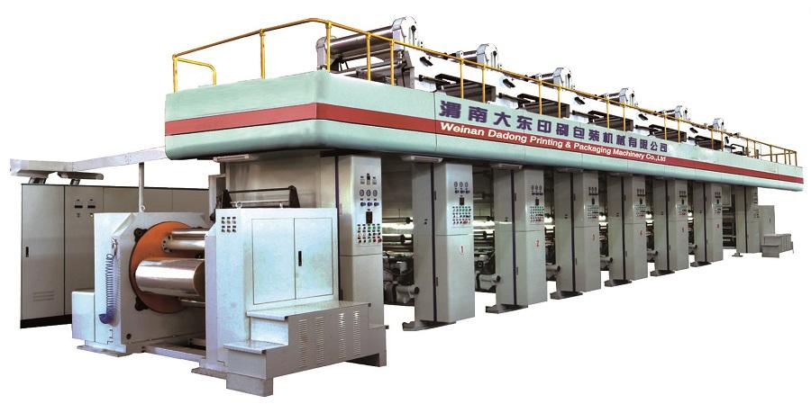YDJW300无轴传动机组式凹版印刷机