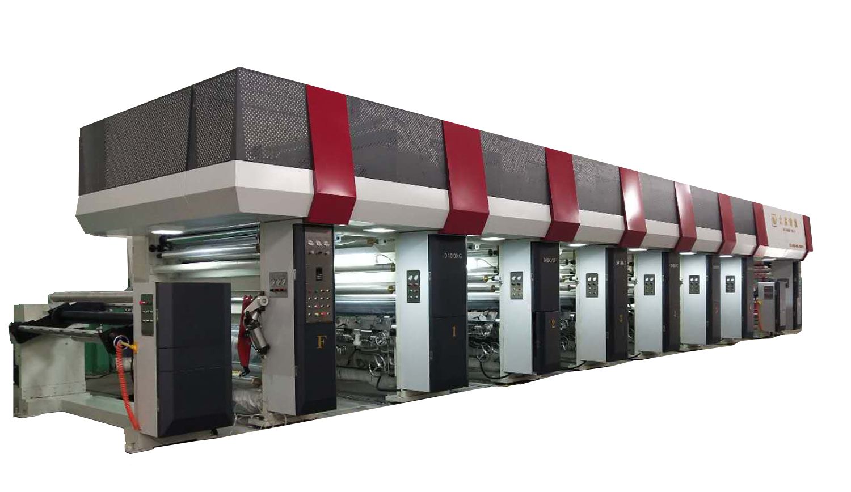 1250宽 350m/min 电子轴熟料包装印刷机